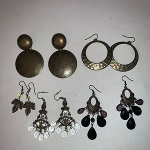Jewelry - 💝 3/$20 Lot of 5 pairs of dangle earrings GUC